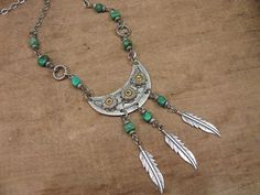 Bullet Jewelry  Western Bohemian Chic Turquoise by thekeyofa, $72.00