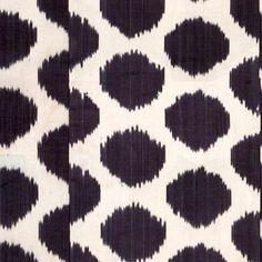 "Madeline Weinrib ""Mu Ikat"" in Black – Revitaliste Ikat Fabric, Saturated Color, Animal Print Rug, Upholstery, Black, Design, Tapestries, Black People, Upholstered Furniture"