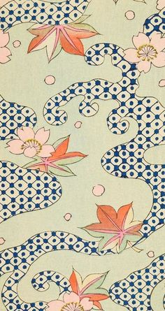 Shin Bijutsukai (The New Monthly Magazine of Desgn) from Smithsonian Libraries archive Description based on surrogate of: 1901 (monthly issues bound together subsequent to publication) Motifs Textiles, Textile Patterns, Textile Prints, Textile Design, Print Patterns, Art Prints, Floral Patterns, Lino Prints, Block Prints