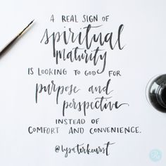 """""""A real sign of spiritual maturity is looking to God for purpose and perspective instead of comfort and convenience."""" Lysa TerKeurst // CLICK to discover God's greater plan for you through all of life's ups and downs."""