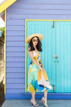 OUTFIT POST: Colourful Brighton Beach.    See more on: http://www.kisforkani.com/2015/12/splash-2/