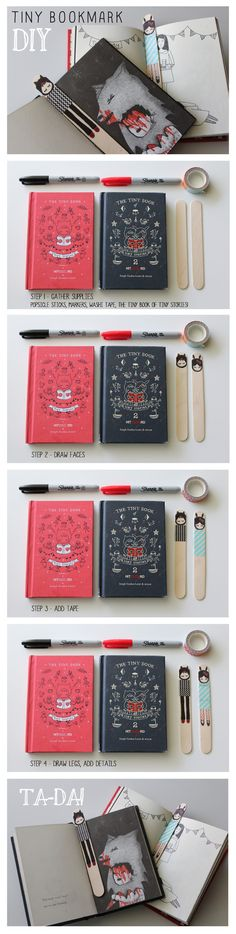 eaneickiv:  Tiny Bookmark DIYon hitRECord by eaneikciv
