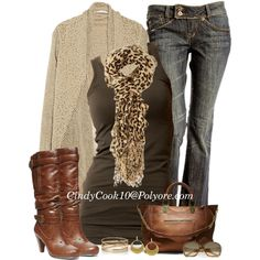 Jeans and Boots, created by cindycook10 on Polyvore