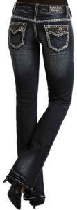 very dark jeans