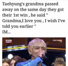 His grandma actually passed away while he was in the PH for a concert. Their 1st win happened 49 days after that day.