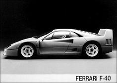 1988 Ferrari F-40 sport coupe press photo