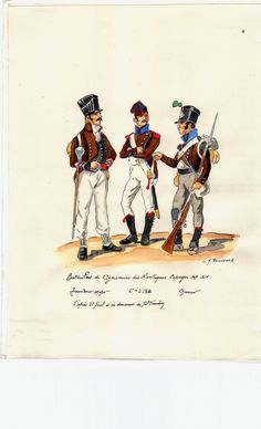 French; Chasseurs de Montagne, Drum Major, Elite Company Soldier & Chasseur, Spain, 1809-14