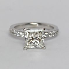 Princess Cut Diamond Ring by Oliver Smith Jeweler.