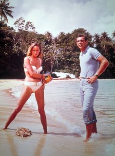 Sean Connery and Ursula Andress in 'Dr. No'