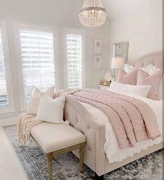 Modern and Small Bedroom Interior Design Ideas ! Part bedroom ideas; bedroom ideas for small room; Dream Rooms, Dream Bedroom, Home Decor Bedroom, Modern Bedroom, Contemporary Bedroom, Blush Bedroom Decor, Mirrored Bedroom, Narrow Bedroom, Shabby Bedroom