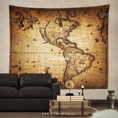 Vintage world map wall tapestry steampunk ancient world map wall ancient 1690 map of america wall tapestry vintage interior world map wall hanging old gumiabroncs Images