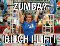 No kidding. I watch all the Zumba women come out and none are in shape.
