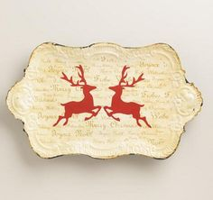Stag Holiday Plate