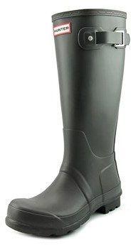 Hunter Tall Men Round Toe Synthetic Gray Rain Boot.