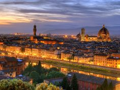 The beautiful city of Florence in Italy