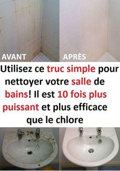 Utilisez ce truc simple pour nettoyer votre salle de bains! Il est 10 fois plus puissant et plus efficace que le chlore! #chlore #nettoyage #bricolage #maison #diy #nettoyer #salle #bain Toilet Paper, Simple, Do It Yourself Crafts, Flasks, Cleaning, Toilet Paper Roll