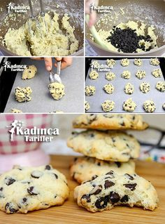 Drop Chocolate Shabby Cookie Rezept, How To . Cookie Recipes, Vegan Recipes, Kinds Of Salad, Köstliche Desserts, Eating Plans, Nutritious Meals, Food Items, Breakfast Recipes, Sweets