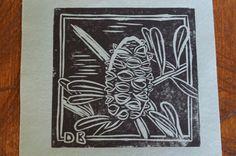 Banksia  Original Lino cut by bizarregalah on Etsy, $16.00