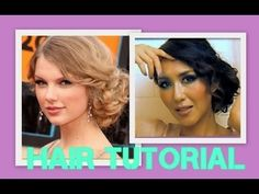 ★ FORMAL UPDO TAYLOR SWIFT HAIR: SIDE BUN CHIGNON HAIRSTYLE, HOMECOMING, for MEDIUM LONG HAIR