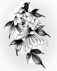 Tattoo Studio, Japanese Art, Tattoo Inspiration, Blackwork, Peony, Tatting, Tattoo Designs, Drawings, Mini