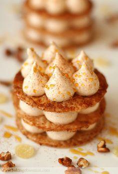 Caramelized Phyllo and Pumpkin Marshmallow Napoleons