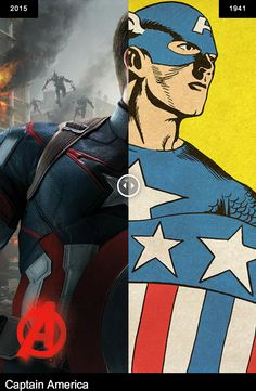 Avengers: Age of Ultron - Captain America (first appeared in Captain America Comics #1, 1941).