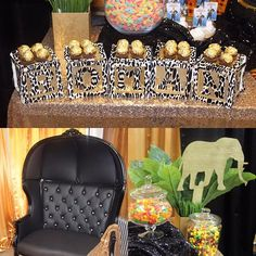Last week Coming to America/safari theme chair by @evolutioneventrentals Custom cupcake toppers by us #customcupcaketoppers #kentecloth #safarithemebabyshower #comingtoamerica #africantheme @evolutioneventrentals dome chair #blackandgold #babyshower #centerpieces #safaritheme  #pcny #nycstylist #nycdecorator #nycevents #nyceventstylist #nyceventstyling #nyceventplanner  #eventstylistnyc #partycreationsnydoesitagain #evedeso #eventdesignsource - posted by PartyCreationsNY…
