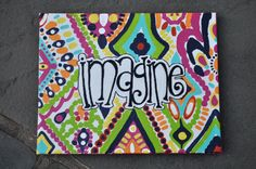 Hand Painted Quote Monogram Canvases by Creannative on Etsy Kunstjournal Inspiration, Art Journal Inspiration, Painting Inspiration, Diy Projects College, Art Projects, Painting Quotes, Love Painting, Fun Crafts, Arts And Crafts