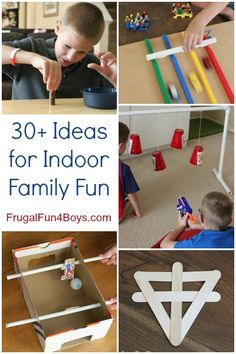 Love this list of 30+ ideas for indoor family fun! These would make great activities for a rainy day