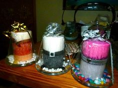 1 x layered fragrant isicles pillar candles by CANDLESOAPHOMEMADE, $35.99
