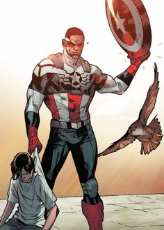 Steve Rogers ain't the only Captain America with a perfect shoulder to waist ratio.Captain America #5, Remender, Immounen