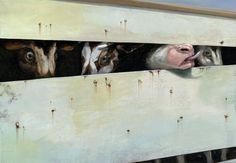 Pinzellades al món: Roger Olmos Vegan Books, Vegan Substitutes, Powerful Art, Vegan Humor, Vegan Animals, Animal Rights, Decir No, Illustration, Painting