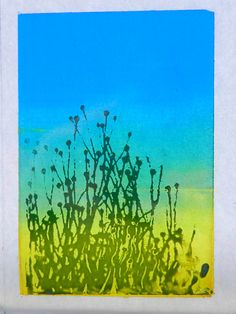 screen print landscape on glass