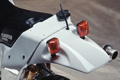 Longrange fuel tanks for 500+ KM days.  There's something insanely hot about the practicality in the form of this bike. The Cagiva Elefant 906SP, a Dakar winner from 1990 & '94