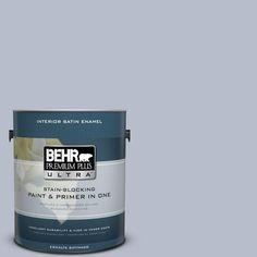 BEHR Premium Plus Ultra 1-gal. #610F-4 Silver Service Satin Enamel Interior Paint