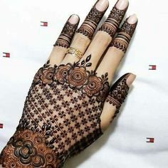Henna Tattoo Designs Images - 100 Wedding Henna Designs on Hand for Brides. this is the best henna tattoo images collection with various pattern Wedding Henna Designs, Engagement Mehndi Designs, Mehndi Designs Book, Full Hand Mehndi Designs, Mehndi Designs 2018, Modern Mehndi Designs, Mehndi Designs For Girls, Mehndi Design Photos, Mehndi Designs For Fingers