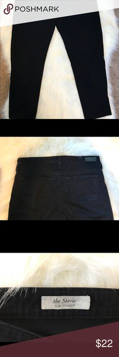 AG black jeans The Stevie slim straight. GUC Size is 30R Ag Adriano Goldschmied Jeans