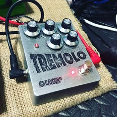 Bit of experimenting with my first attempt at etching an enclosure and trying out a new Tremolo circuit! #tremolo #etching #handmade fuzzboxes.co.uk
