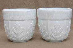 Vintage milk glass planters. #LGLimitlessDesign. #Contest.