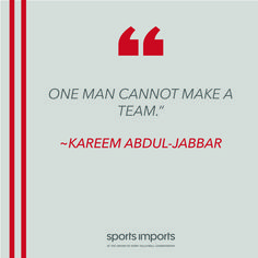 Kareem Abdul Jabbar Outdoor Volleyball Net, Volleyball Equipment, Volleyball Motivation, Team Quotes, Kareem Abdul Jabbar, A Team, Sports, Hs Sports, Sport