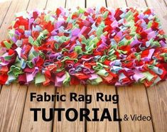 Easy Rag Rug DIY Watch The Video Tutorial #HomemadeRugs