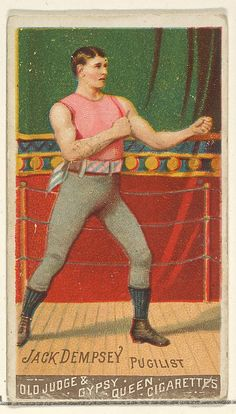 Jack Dempsey, Pugilist, from the Goodwin Champion series for Old Judge and Gypsy Queen Cigarettes