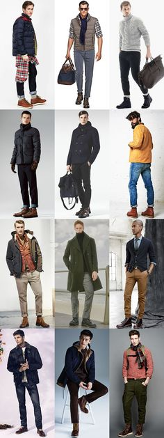 Men's Footwear Styles For Autumn/Winter 2015: Hiking Boots Outfit Inspiration Lookbook