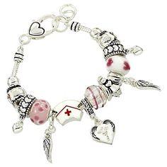 Nurse Pandora Style Bracelet Nurse Appreciation ** ADDITIONAL INFO @ http://www.finejewelry4u.com/jewelry100/12415/?806