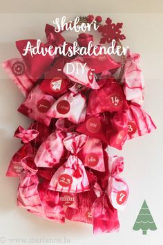 Shibori - Adventskalender - Advent calendar - calendrier de l'avent