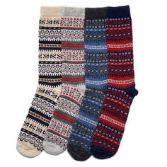 Description Merino and cashmere blend fair isle socks using decedent Italian-spun merino and cashmere blend yarn. Buy all 4 colors save 25% over the individual price. The default bundle is one of each