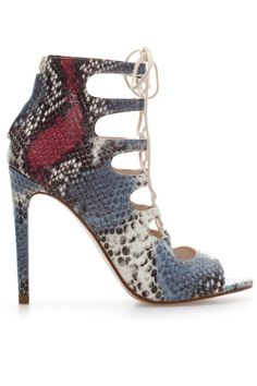 Zara Snakeskin Leather High Heel Ankle Boot, $119; zara.com