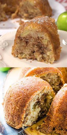 Apple Bundt Cake Recipes, Apple Coffee Cakes, Apple Dessert Recipes, Apple Recipes, Pumpkin Recipes, Sweet Recipes, Baking Recipes, Apple Bunt Cake, Banana Bundt Cake