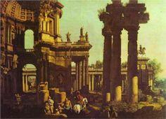 Ruins of a Temple - Bernardo Bellotto