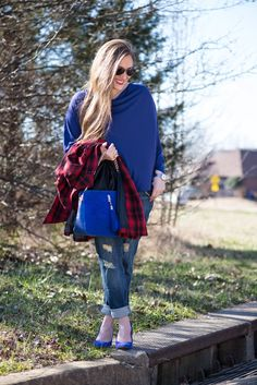 Walking in Memphis in High Heels: Plaid Bow